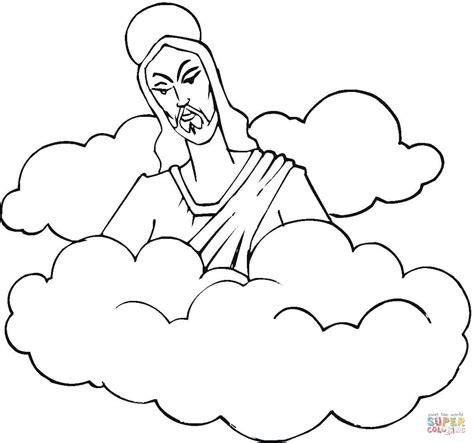 imagenes de jesus grandes para imprimir disegno di ges 249 tra le nuvole da colorare disegni da