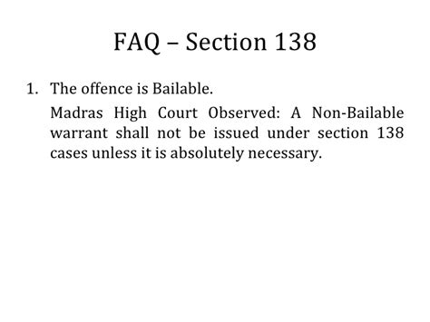 Section 138 Of The Negotiable Instruments Act