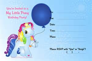 2 impressive my little pony birthday invitations printable