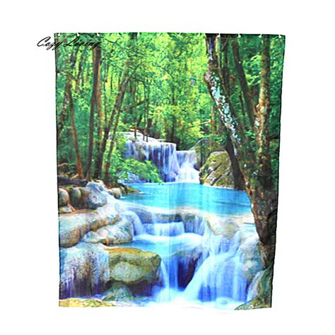 scenic shower curtains scenic shower curtains 150 180cm custom fabric waterproof