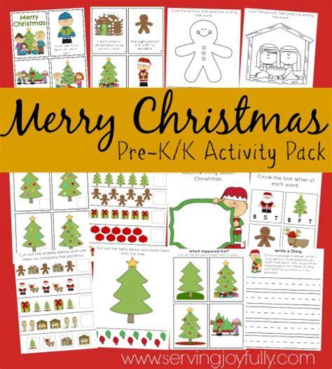 printable christmas activity pack cute christmas themed preschool printable packs and more