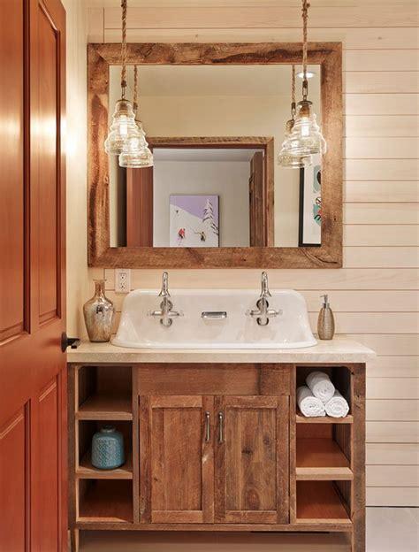 Rustic Modern Vanity Lighting 26 Impressive Ideas Of Rustic Bathroom Vanity Home Design Lover