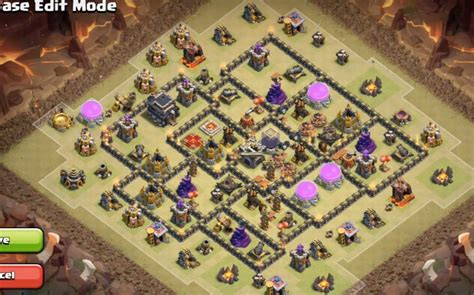 layout coc th9 anti giant 6 epic th9 war base layouts farming base layouts for 2016