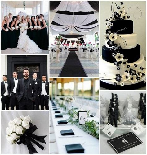 Black And White Wedding Decor by 1000 Images About Classic Black White Wedding On