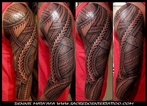 tribal tattoos las vegas sleeve by dennis mata afa of sacred center las