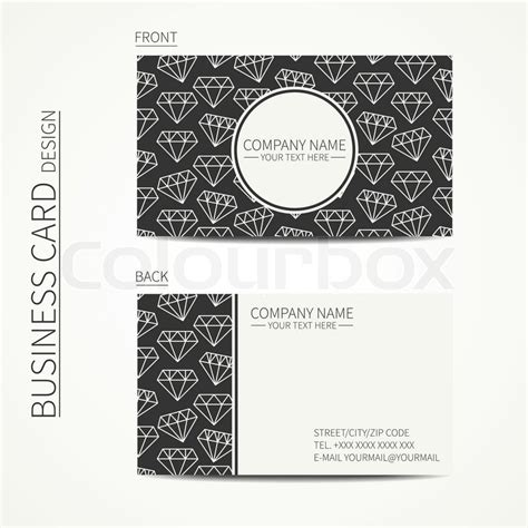 Line Card Template Design by Vintage Creative Simple Business Card Template With