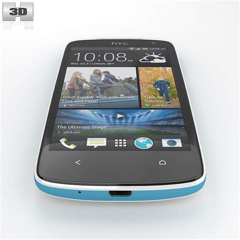 htc desire 500 htc desire 500 glacier blue 3d model humster3d