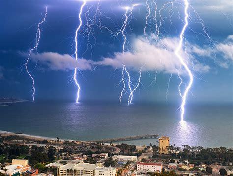 lighting in california lightning ventura california photo one big photo