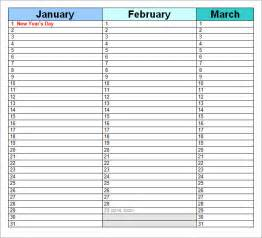 search results for birthday calendar word template