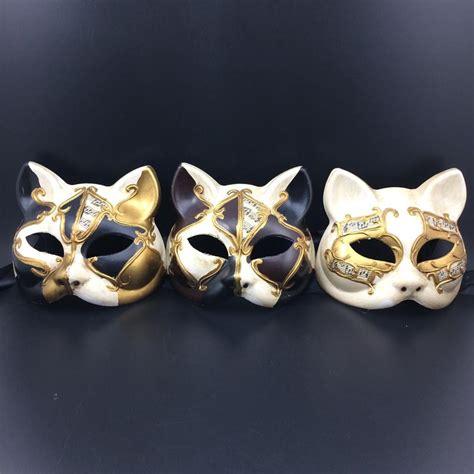 Masker 6 In 1 The painted note mask venetian mask cat masks mask