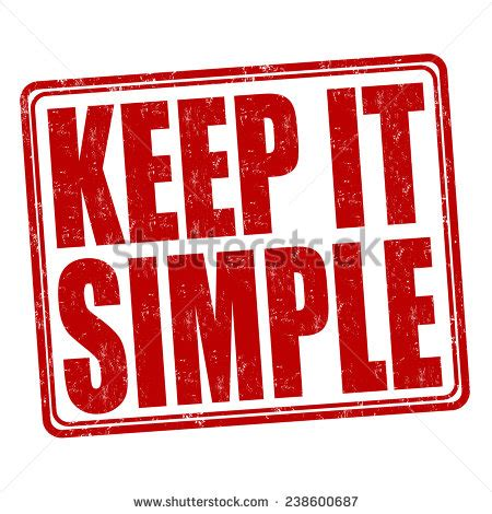 Keeping It Simple by Keep It Simple Stock Photos Images Pictures