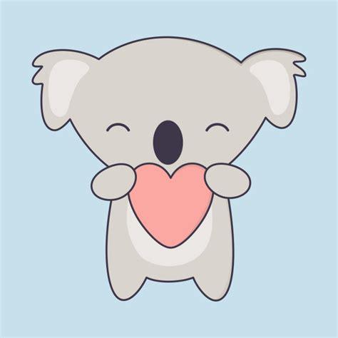 imagenes kawaii de koalas kawaii cute koala bear with heart koala t shirt