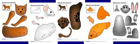 Brego Split Pet Gliter split pin pet characters sb2083 sparklebox