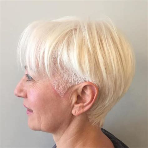 blonde bob undercut 80 classy and simple short hairstyles for women over 50