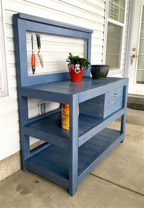 potting bench with storage 65 diy potting bench plans completely free