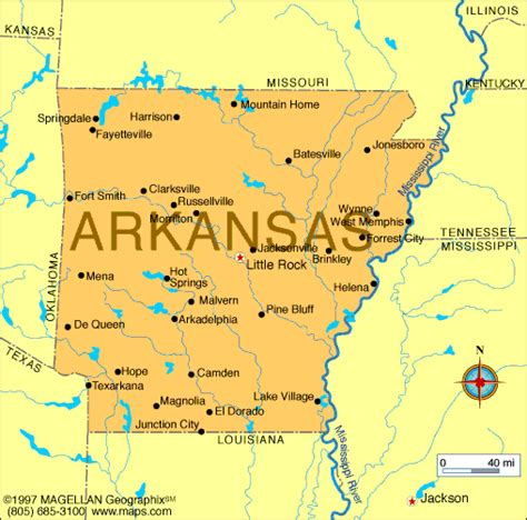 rock usa map map of arkansas which entered the union on june 15 1836