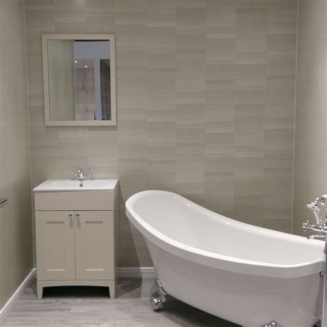 White Wall Panels Bathroom by Silver Small Tile The Panel Factory