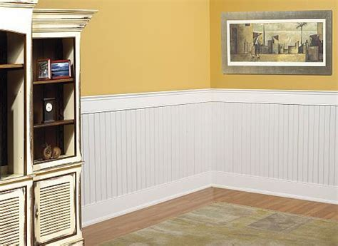 Types Of Wainscoting Panels by Mdf Bayside Beadboard Wainscoting Kit Covers 40 Quot H X 96 Quot L