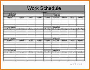 Monthly Schedule Template by 5 Monthly Schedule Template Expense Report