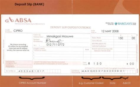 Absa Bank Letterhead Companies And Intellectual Property Registration Office