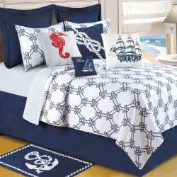 Nautical Quilts Knotty Buoy Cotton Nautical Quilt Bedding