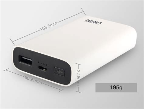 qualcomm certified chuwi 10050mah 18w two way charge qc3 0 power bank for apple android
