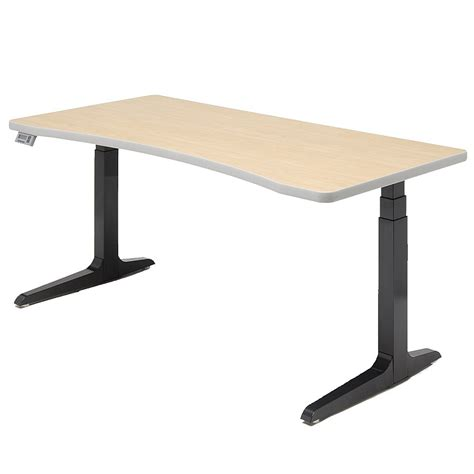 Workrite Desks shop workrite hx adjustable height desks concave
