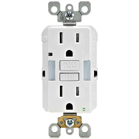 leviton receptacle leviton 15 125 volt combo self test duplex guide light and ter resistant gfci outlet