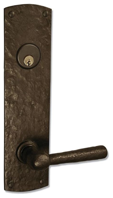 rustic exterior door hardware coastal bronze 220 series solid bronze tubular latch bolt door entry set lar rustic