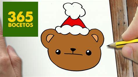 imagenes de oso kawaii como dibujar un oso para navidad paso a paso dibujos