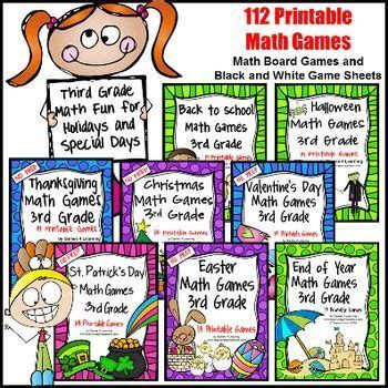 printable math board games 6th grade printable math board games for 3rd graders st patrick s