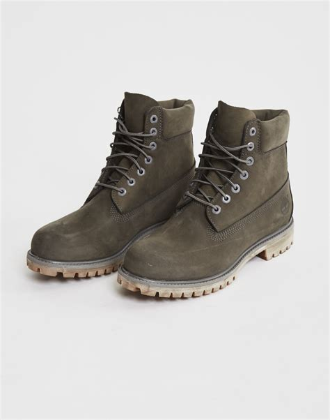 gray timberland boots timberland icon 6 quot premium boot grey in gray for lyst