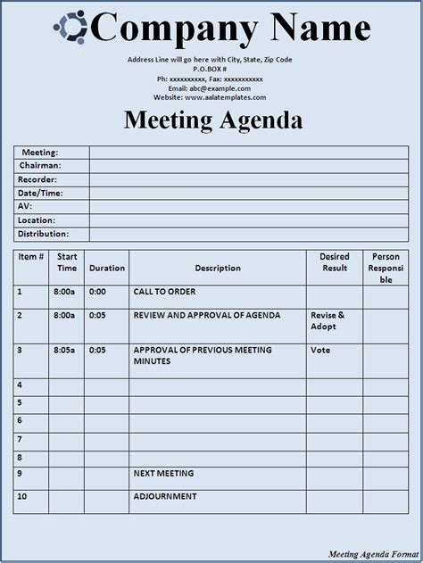 classic meeting minutes office templates