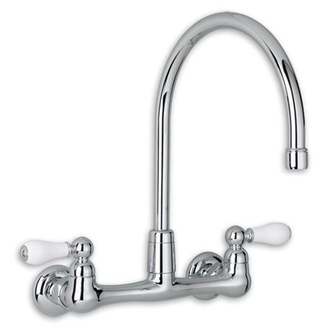 american standard wall mount kitchen faucet american standard 7293 252 002 heritage 2 handle high arc