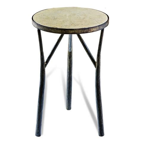 Iron Side Table Rustic Forged Iron Side Table Kathy Kuo Home