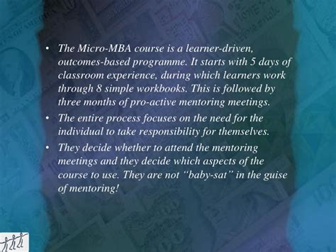 Micro Mba Course by Micro Mba For Empowerment