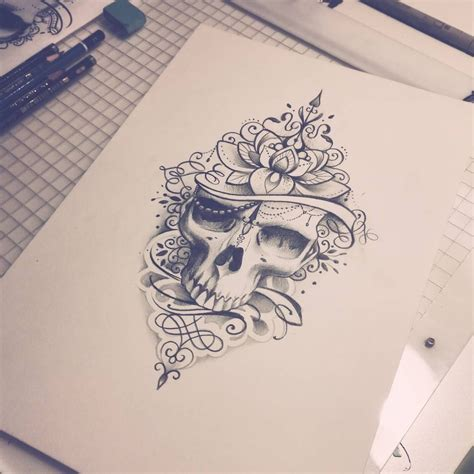 mandala head tattoo in with this skull tattoos