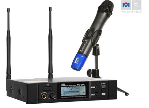 Mic Aiwa 16 Wireless Uhf Profesional vm 99u professional uhf wireless microphone system