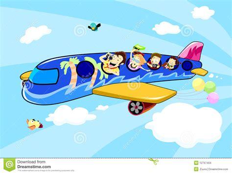 clipart viaggi vacanza di viaggio della famiglia dell aeroplano