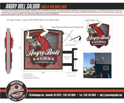prime design graphix the artists who happen to make signs the angry bull