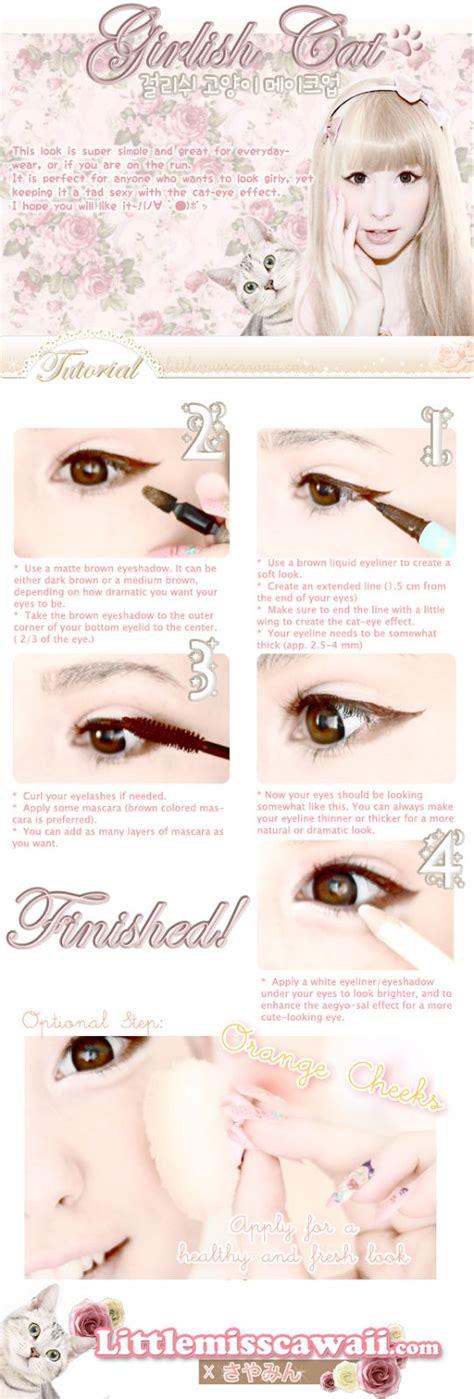 tutorial eyeliner ulzzang boy little miss cawaii girlish cat ulzzang makeup tutorial