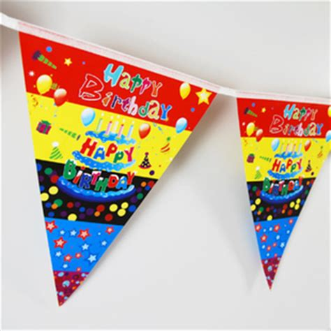 2 2m triangle shaped happy birthday flag bunting new free ship kid children event decor in