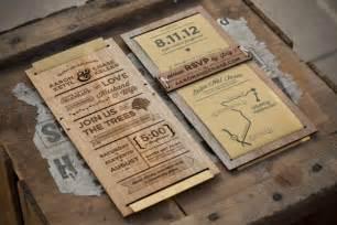 Rustic Wedding Program Templates Rustic Wooden Wedding Invitation