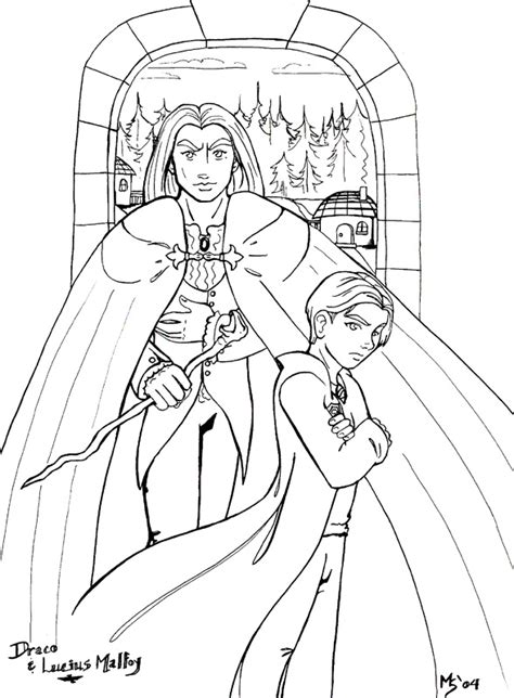 lucius malfoy coloring pages coloring pages