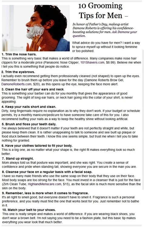 10 Tips For Boys by 10 Grooming Tips For Help Yourself Cures