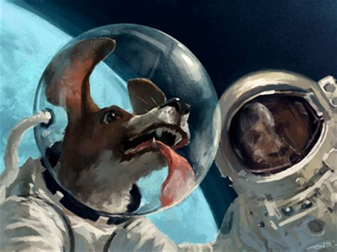 space puppies dribbble in out space by aleksey litvishkov