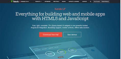 kendo mobile widgets top 22 best free html5 frameworks for responsive web