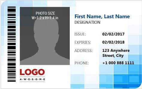 employee card template word dotorial com