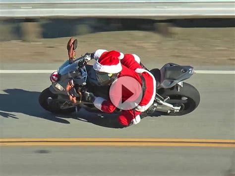 Lustige Motorrad Filme Videos by Weihnachtsmann Auf Bmw S1000rr Superbike Kinder Ihr M 252 Sst