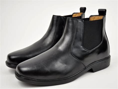 la s black genuine leather dress shoes high top